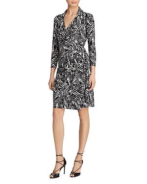Lauren Ralph Lauren Printed Jersey Wrap Dress