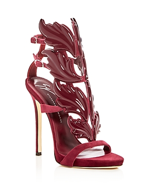 Giuseppe Zanotti Women's Cruel Coline Suede & Patent Leather Wing Embellished High Heel Sandals