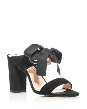 Avec Les Filles Megan Bow High Heel Slide Sandals