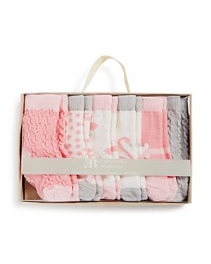 Elegant Baby Girls' Organic Socks, 6 Pack - Baby