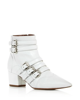 Tabitha Simmons - Women's Christy Buckled Block Heel Booties