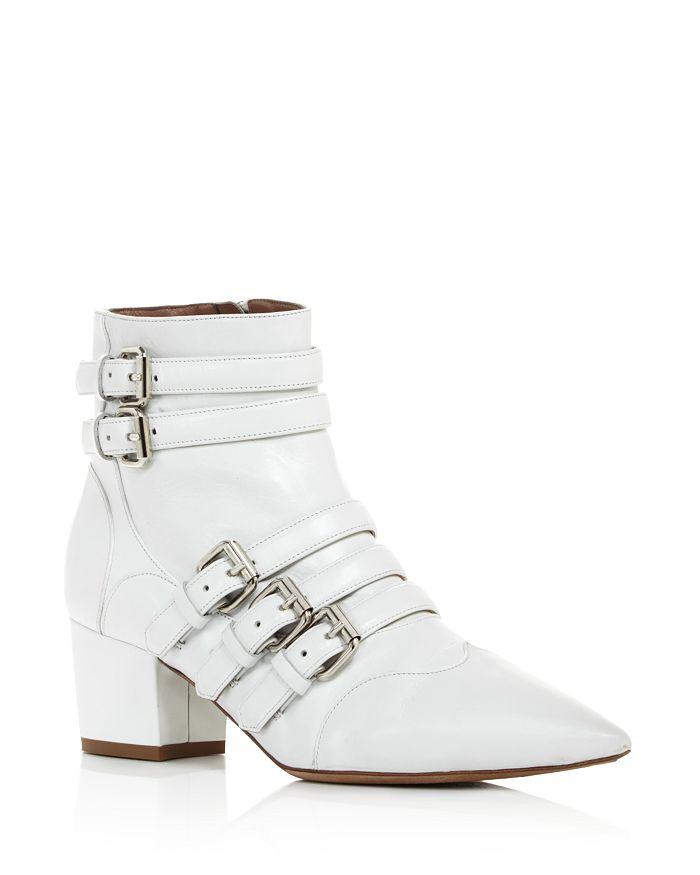Tabitha Simmons - Women's Christy Buckled Block Heel Booties