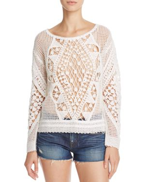 Ella Moss Esmeralda Crochet Sweater