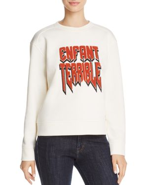Maje Enfant Terrible Neoprene Sweatshirt