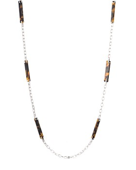 Ralph Lauren - Tortoise & Metal Necklace, 38""