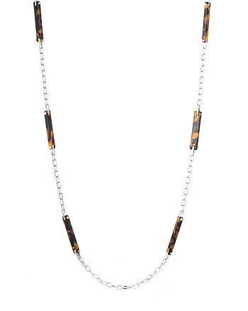 """Ralph Lauren - Tortoise & Metal Necklace, 38"""""""