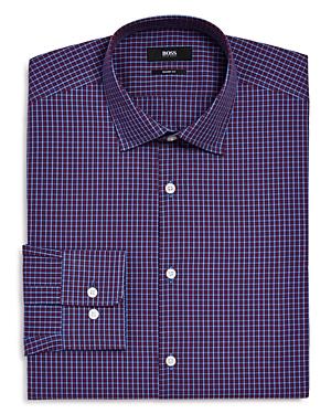 Boss Marley Tonal Check Sharp Fit - Regular Fit Dress Shirt