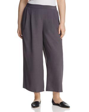 Eileen Fisher Plus Cropped Wide-Leg Pants