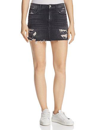 Hudson - Vivid Denim Mini Skirt in Pretender