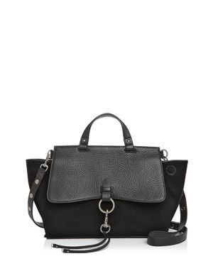 Rebecca Minkoff Keith Medium Leather and Suede Satchel 2648755