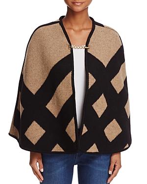 Burberry Blanket Check Poncho