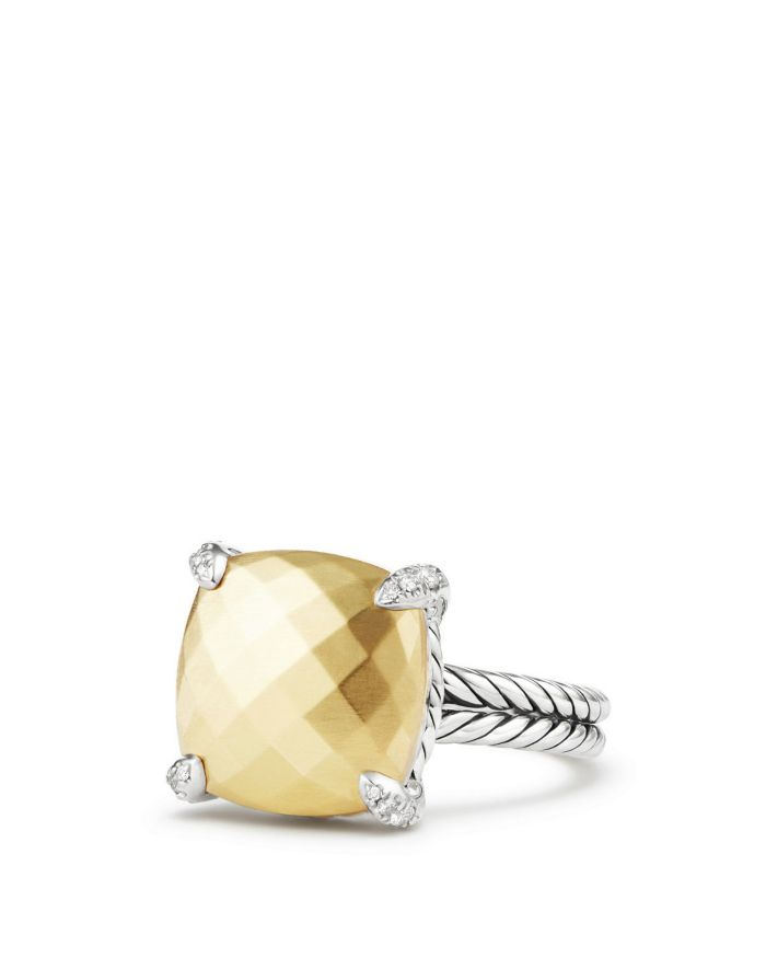 David Yurman Châtelaine® Ring with 18K Gold and Diamonds  | Bloomingdale's