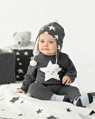 Unisex Star Knit Coverall - Baby