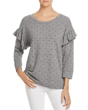 Current/Elliott - The Ruffle Star-Print Sweatshirt