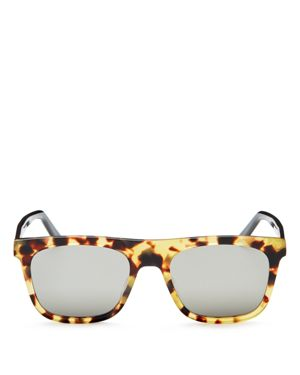 Dior Homme Walk Mirrored Flat Top Square Sunglasses, 50mm