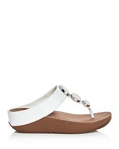 FitFlop - Women's Halo Embellished Platform Thong Sandals