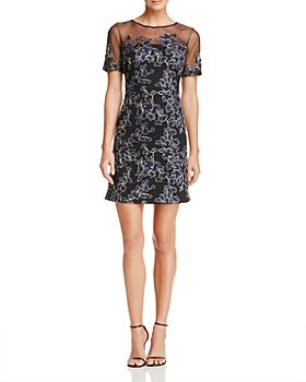 Tadashi Shoji - Embroidered Illusion Dress