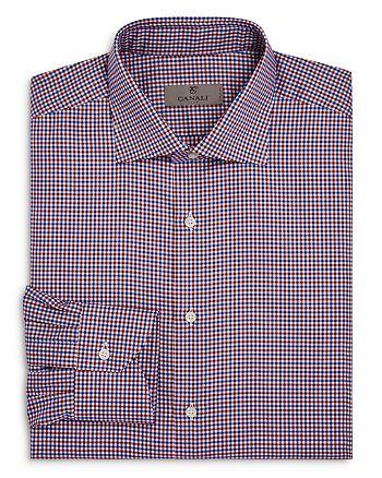 Canali - Multicolored Tattersall Regular Fit Dress Shirt