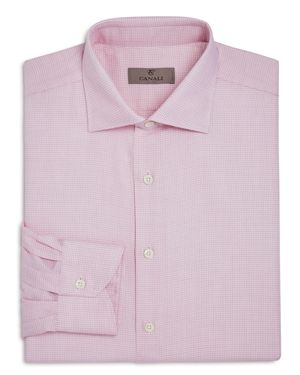 Canali Red-Weave Regular Fit Dress Shirt