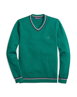 Brooks Brothers Boys Tipped VNeck Sweater  Big Kid