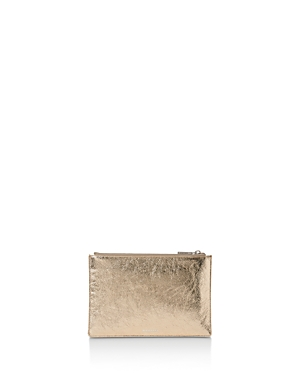 Whistles Metallic Small Leather Clutch