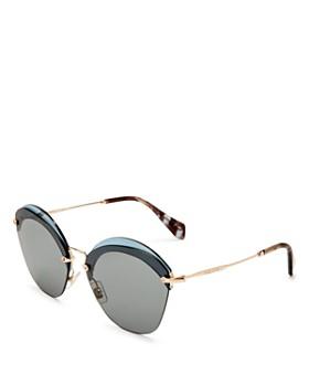 Miu Miu - Women's Overlapping Game Evolution Cat Eye Sunglasses, 63mm