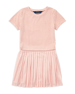 Ralph Lauren Childrenswear Girls Pleated Knit Dress  Little Kid