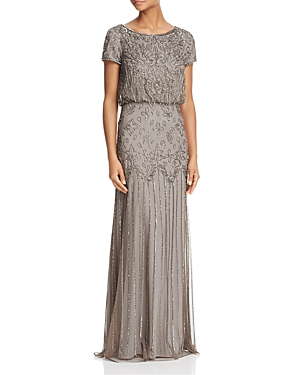 Best 1920s Prom Dresses – Great Gatsby Style Gowns Adrianna Papell Embellished Gown AUD 311.50 AT vintagedancer.com