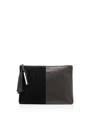 Loeffler Randall Tassel Suede and Leather Pouch