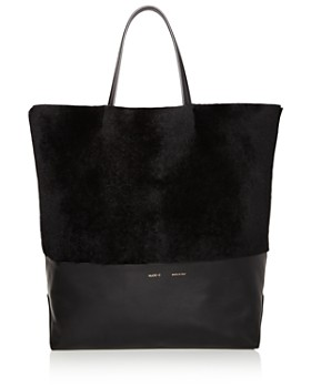Alice.D - Husky Large Shearling and Leather Tote