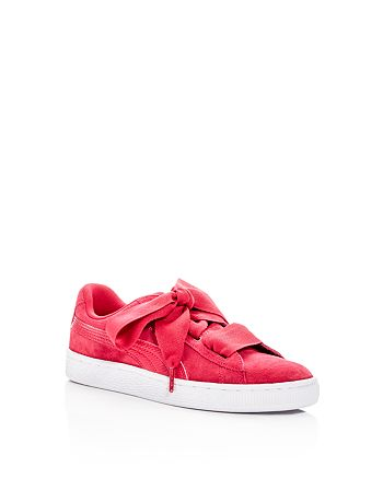 PUMA - Girls' Heart Suede Lace Up Sneakers - Big Kid