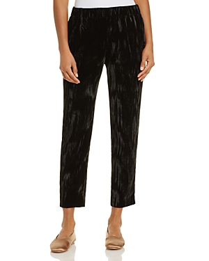 Dylan Gray Cropped Crushed Velvet Pants