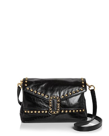$MARC JACOBS Envelope Studded Small Leather Crossbody - Bloomingdale's
