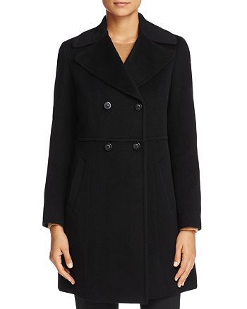 Cole Haan - Double-Breasted Notched Collar Coat