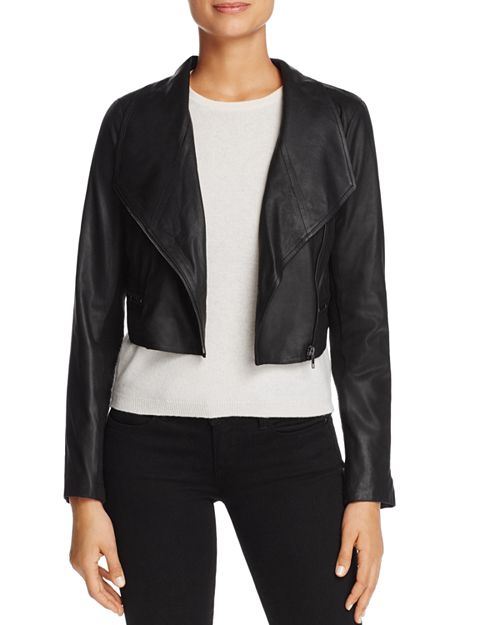 BB DAKOTA - Shiloh Cropped Leather Biker Jacket