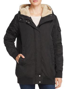 Marc New York Nina Faux Fur Trim Puffer Bomber Jacket