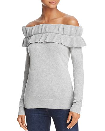 Endless Rose - Ruffled Off-the-Shoulder Sweater - 100% Exclusive