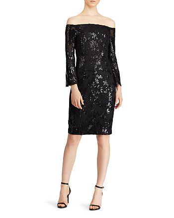 Ralph Lauren - Sequined Off-the-Shoulder Dress