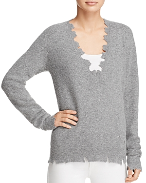 Iro. jeans Brody Distressed V-Neck Sweater at Bloomingdale's