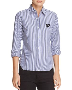 Comme Des Garcons Play Heart Striped Shirt