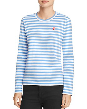 Comme Des Garcons PLAY - Heart Striped Tee