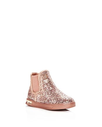 621e5c32ff5f4 Michael Kors MICHAEL Girls  Ollie Rae Glitter High Top Sneakers ...