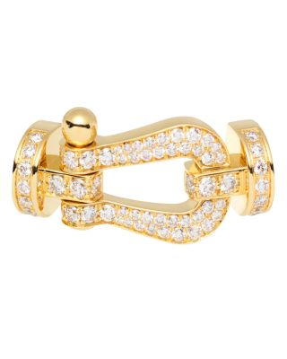 FRED 18K YELLOW GOLD FORCE 10 DIAMOND LARGE BUCKLE