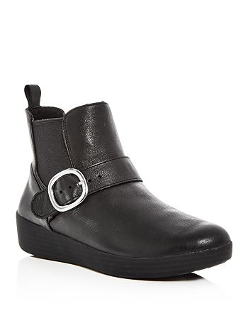 FitFlop - Women's Superbuckle Leather Chelsea Booties