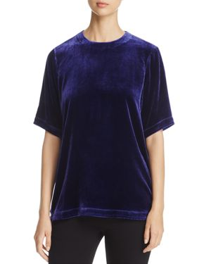 Eileen Fisher Petites Crewneck Velvet Top - 100% Exclusive