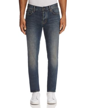 John Varvatos Star Usa Bowery Slim Fit Jeans in Dusty Blue