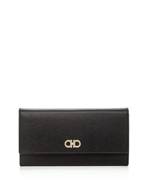 Salvatore Ferragamo Gancini Leather Continental Wallet