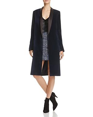 Alice + Olivia Kylie Shawl-Collar Velvet Jacket