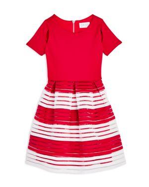 Us Angels Girls' Sheer Stripe Dress - Big Kid