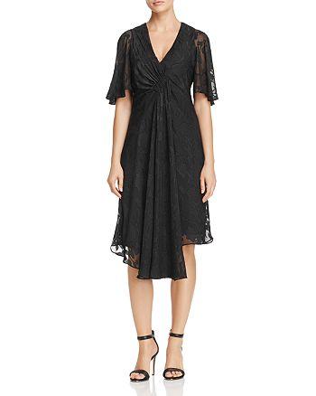 nanette Nanette Lepore - Flutter Sleeve Clip Jacquard Dress